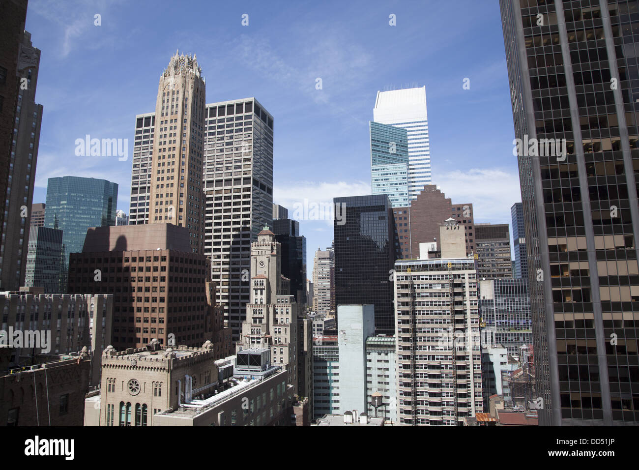 Looking North From An Apartment On East 48th St. In Midtown Manhattan, NYC.