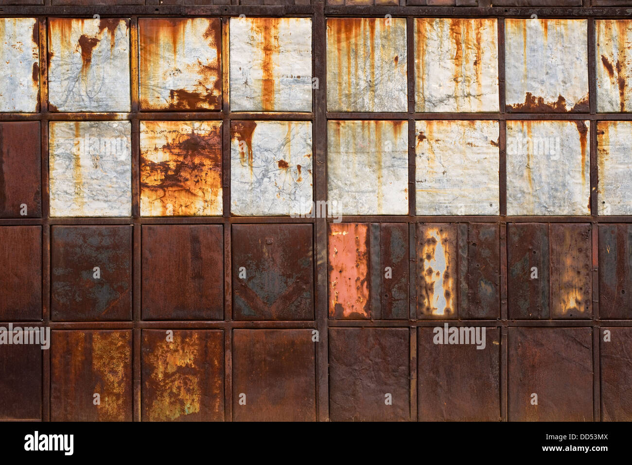 rusty metal texture corroded metal plates as abstract background