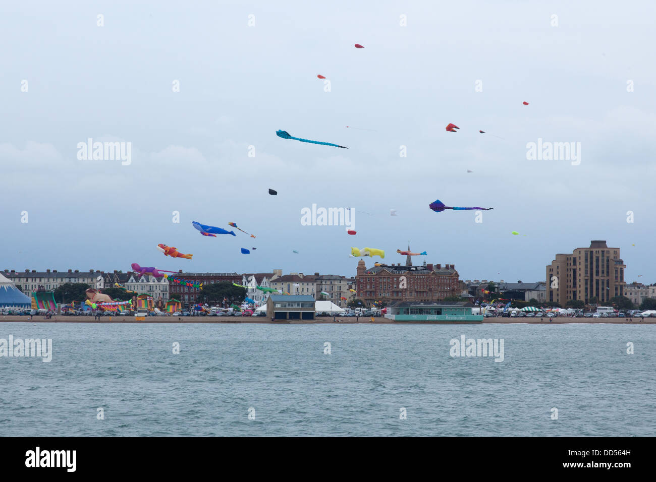 Portsmouth International Kite Festival, Southsea Common,Clarence Esplanade,Southsea,Portsmouth,England, U.K Stock Photo