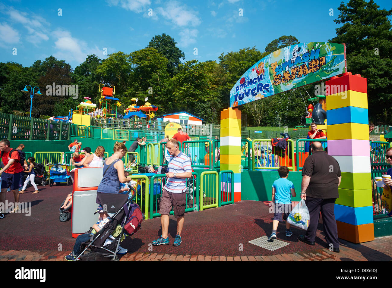 Entrance To Drench Towers & Splash Safari Opened in 2013 Legoland Windsor UK Stock Photo