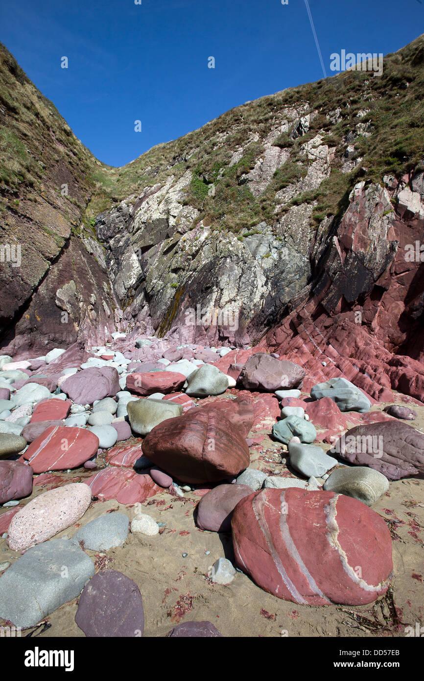 Caerfai Bay, St.David's, Pembrokeshire, West Wales - Stock Image