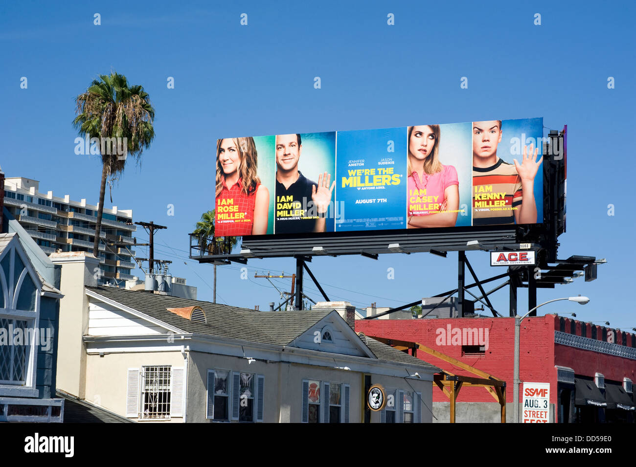 Billboard on the Sunset Strip - Stock Image