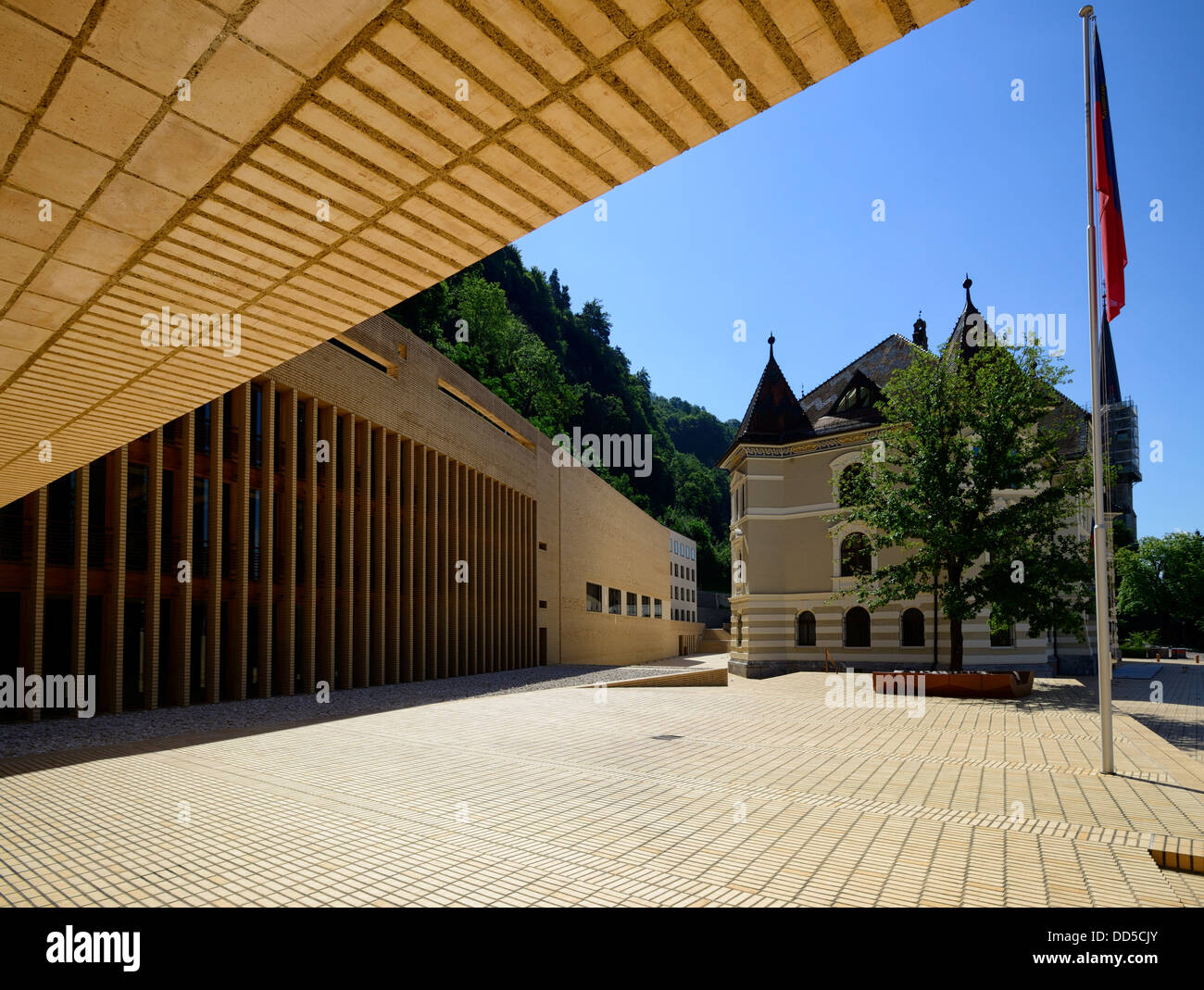 Parliament Building, Vaduz, Liechtenstein, Europe - Stock Image