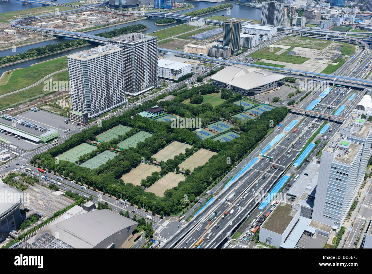ariake tennis park tokyo japan aerial view of proposed. Black Bedroom Furniture Sets. Home Design Ideas