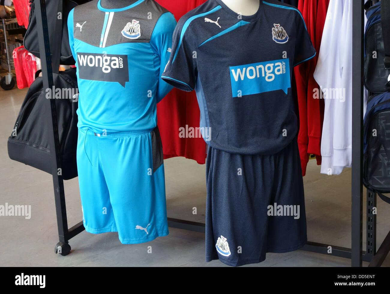 the best attitude 2ab6c 7381b Newcastle United football shirts with Wonga sponsorship on ...
