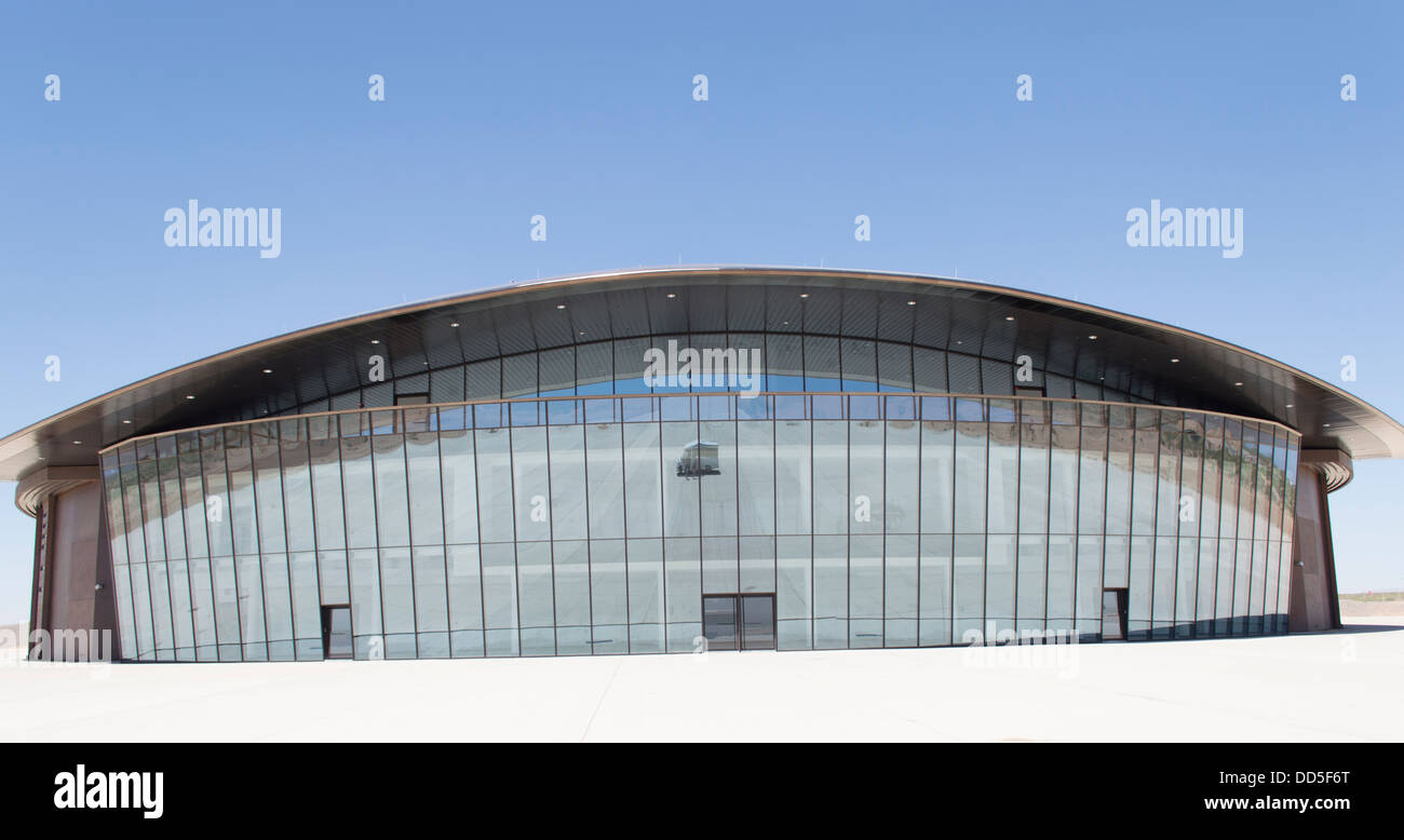 The Spaceport America facility in the New Mexico desert near the town of Truth or Consequences. - Stock Image