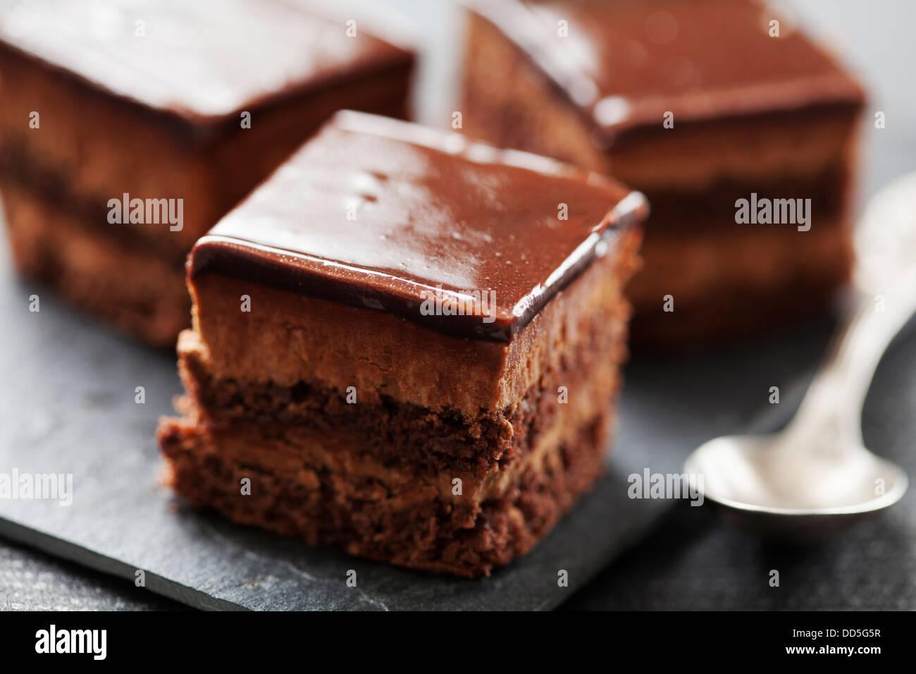 chocolate layer cake - Stock Image