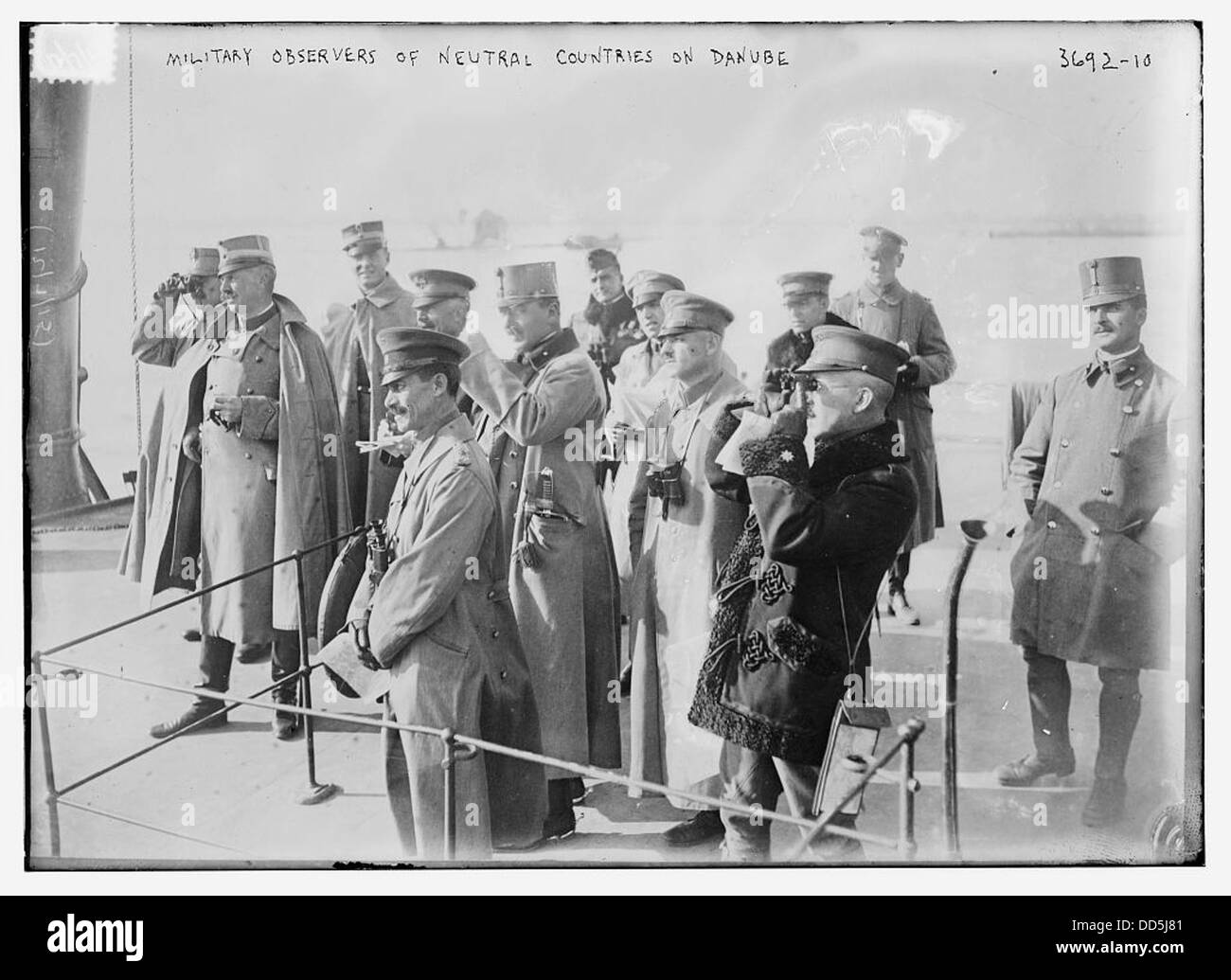 Military Observers of Neutral Countries on Danube (LOC) - Stock Image