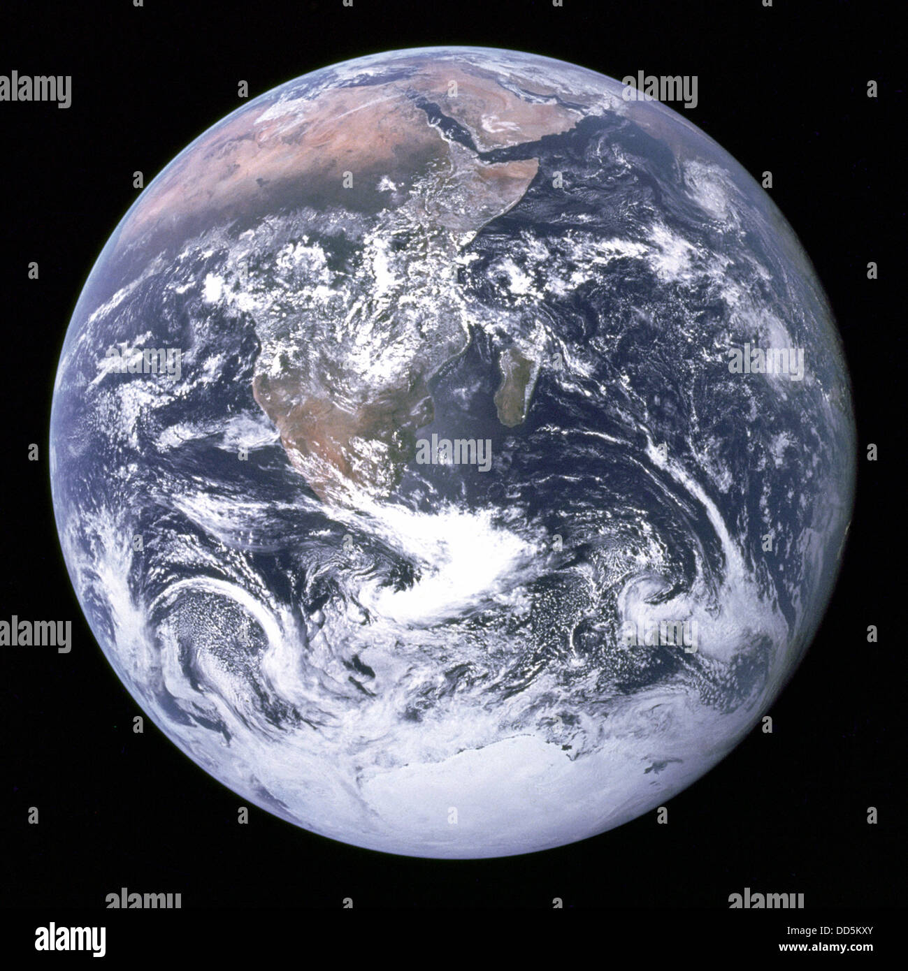 The Earth seen from space. Stock Photo