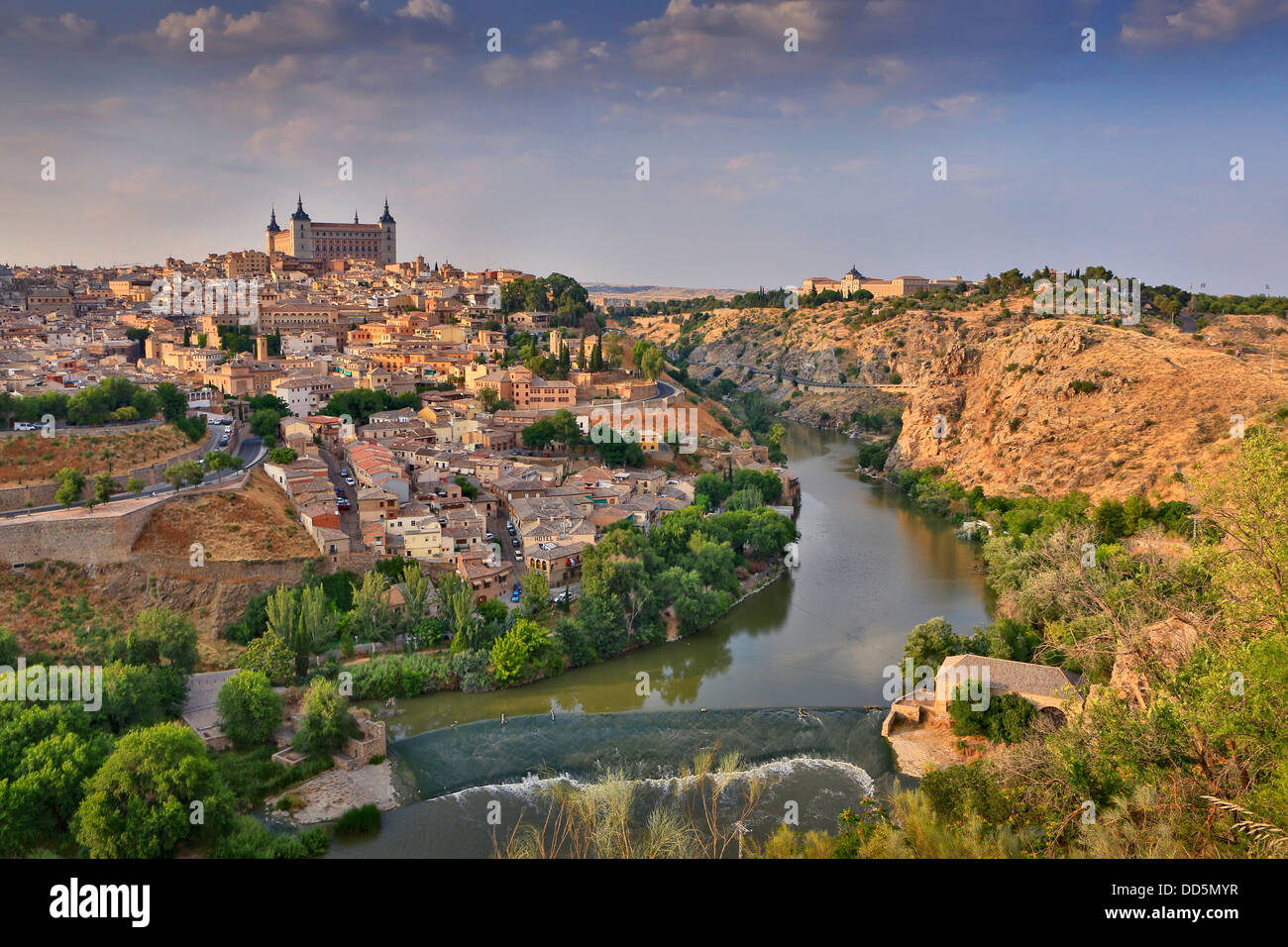 View of Toledo old city in Spain - Stock Image
