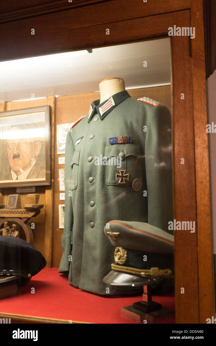 Guernsey 2013. German occupation museum. Uniform - Stock Image