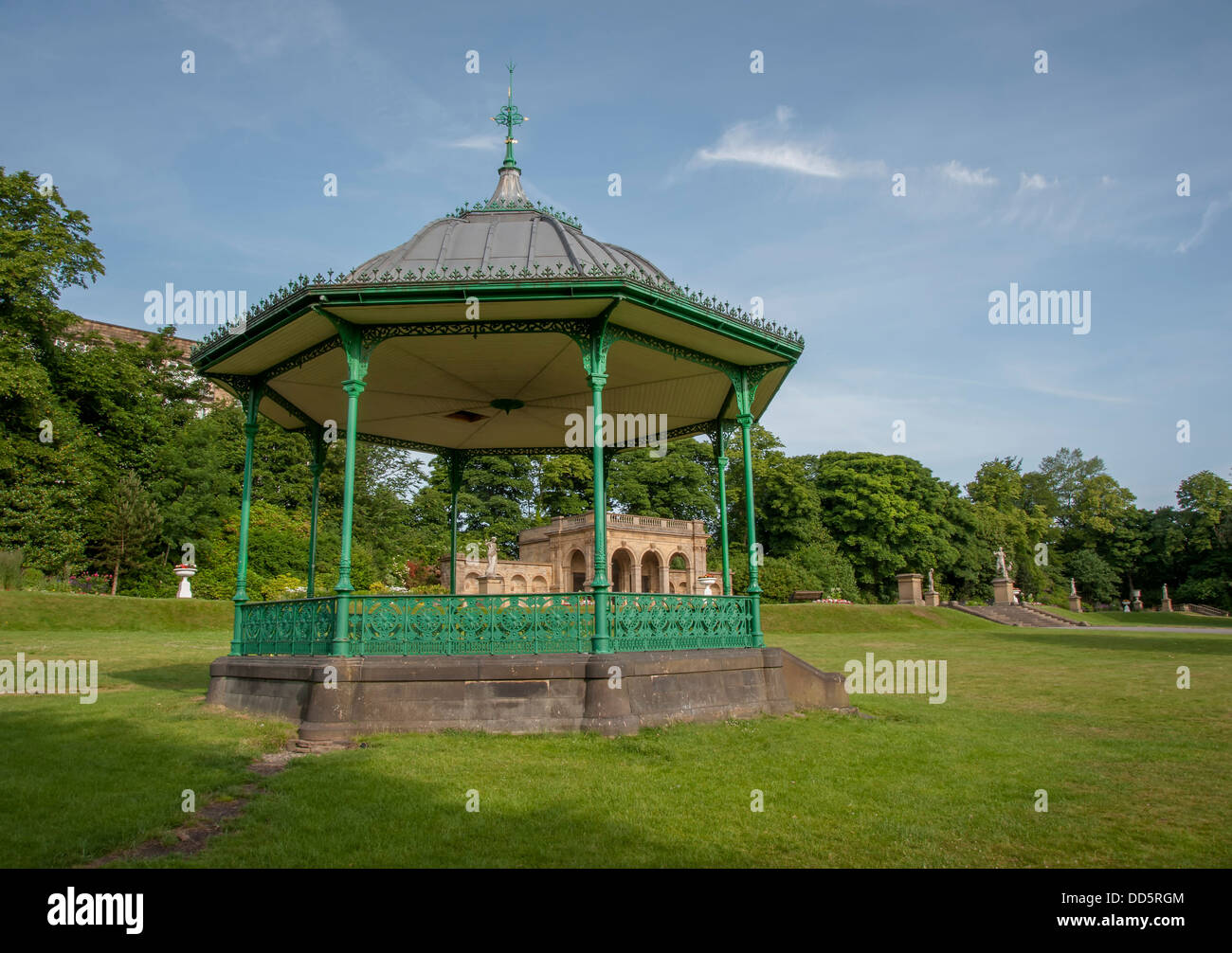 Bandstand in the Joseph Paxton designed Peoples Park in Haklifax, West Yorkshire - Stock Image