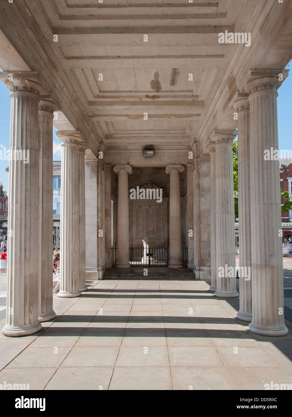 marble war memorial in southport merseyside - Stock Image