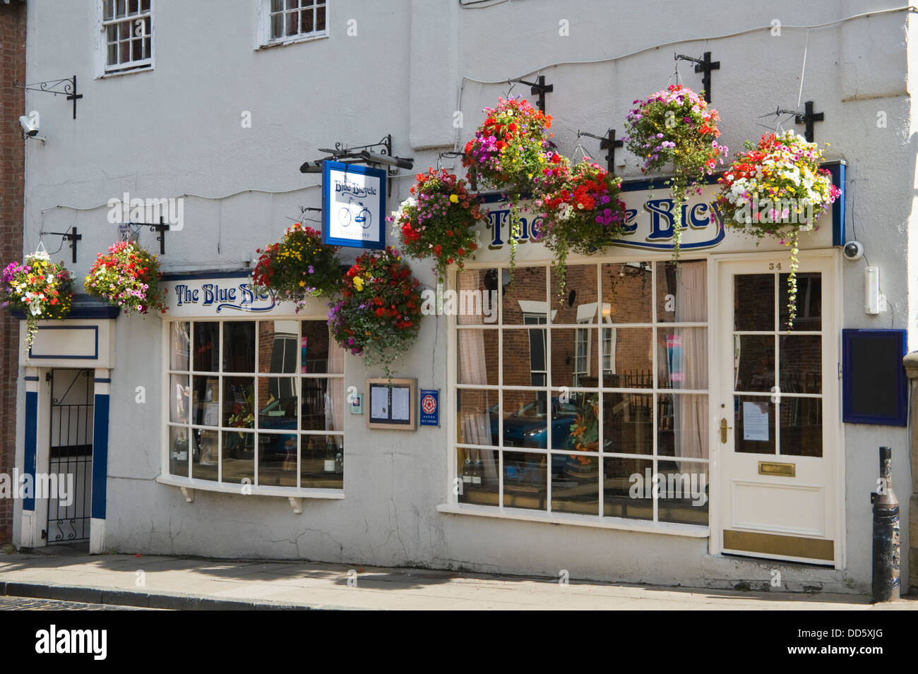 BLUE BICYCLE restaurant a former Victorian brothel at Fossgate in city of York North Yorkshire England UK - Stock Image