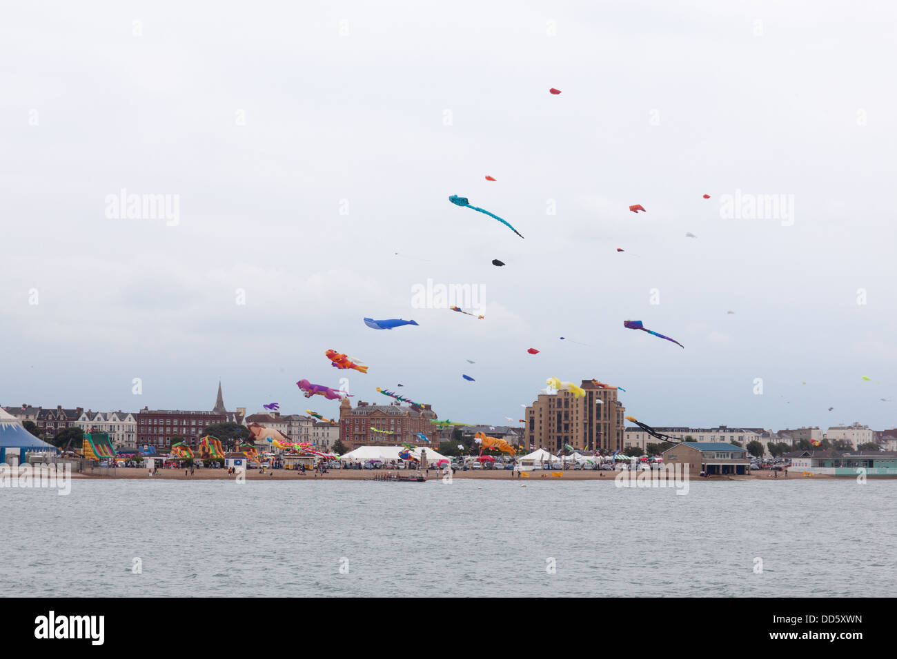 Portsmouth International Kite Festival, Southsea Common,Clarence Esplanade,Southsea,Portsmouth,England, U.K Stock Photo