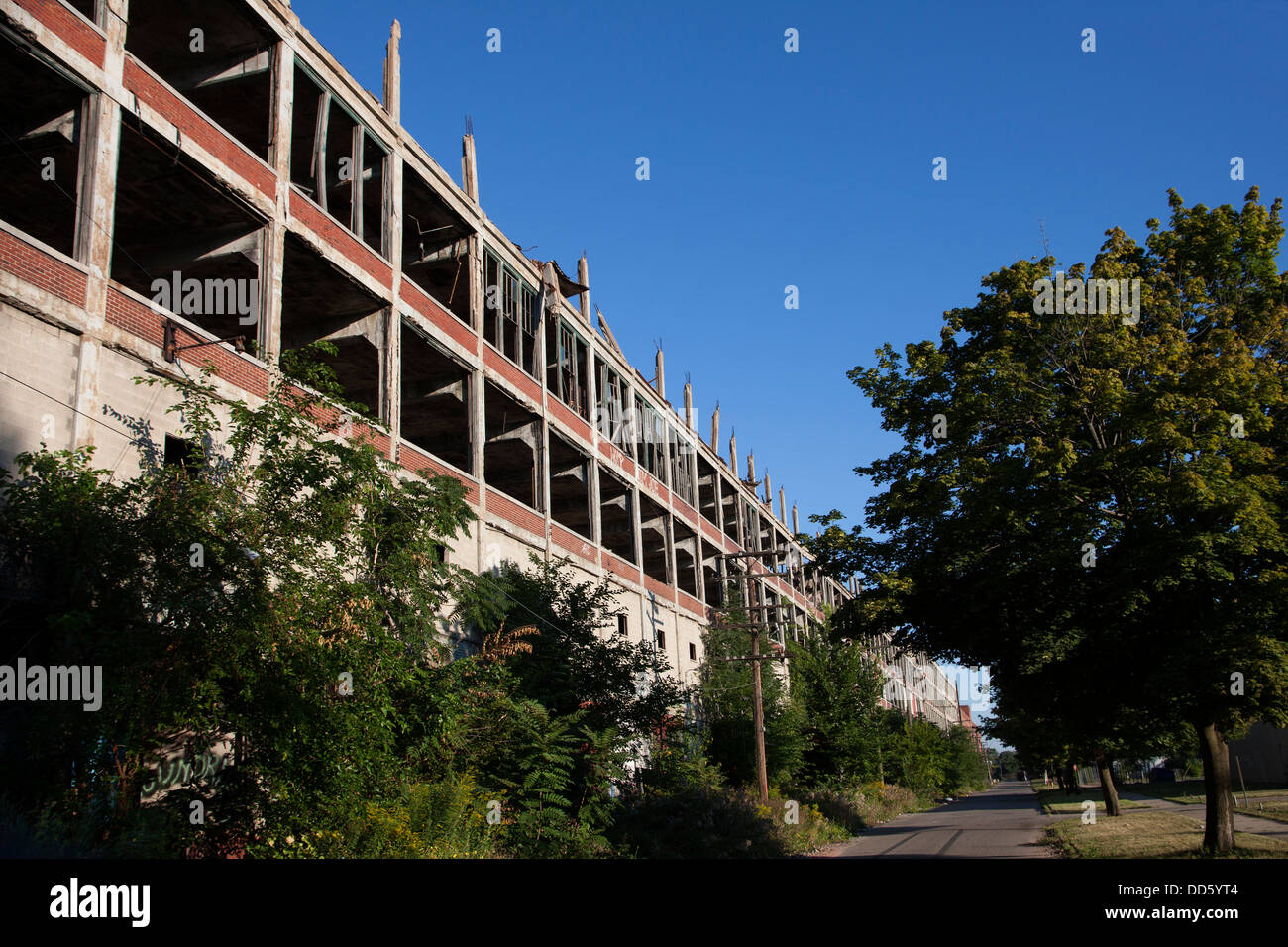 Packard Plant, abandoned since 1966, Detroit, Michigan USA - Stock Image