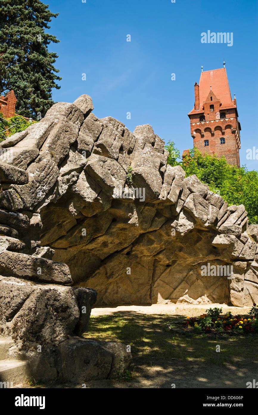 Grotto, Tangermünde Castle, Saxony-Anhalt, Germany Stock Photo