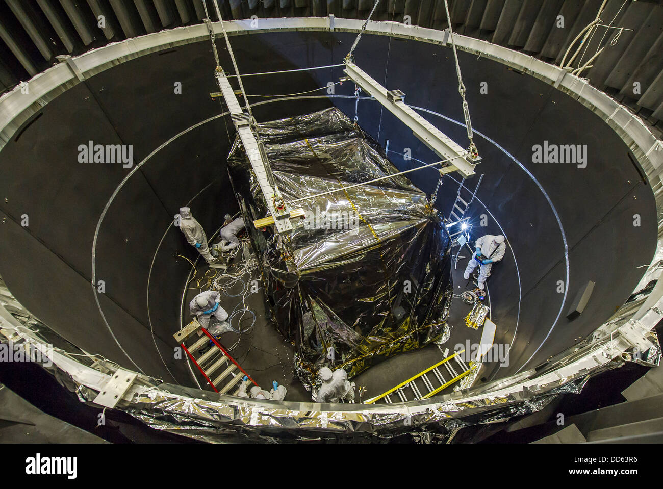 ISIM Lowered into Thermal Vacuum Chamber - Stock Image