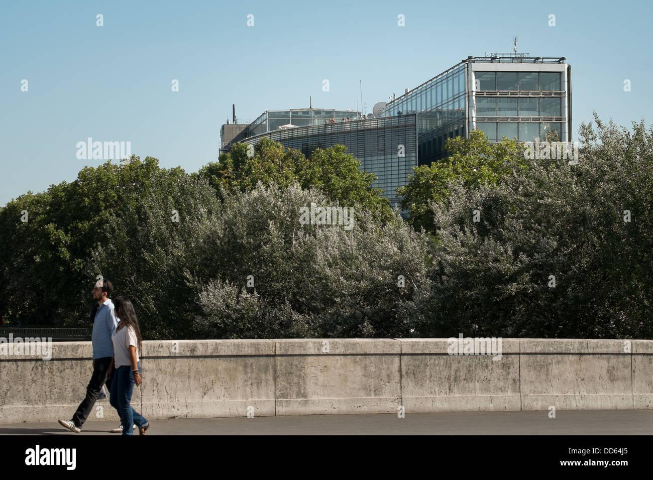 Arab World Institute in Paris, France. - Stock Image