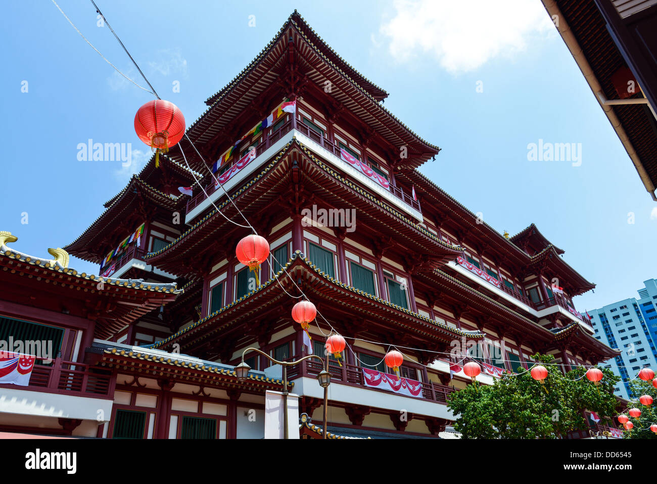 Asia  Singapore Buddha Tooth Relic Temple Buddhist Temple - Stock Image