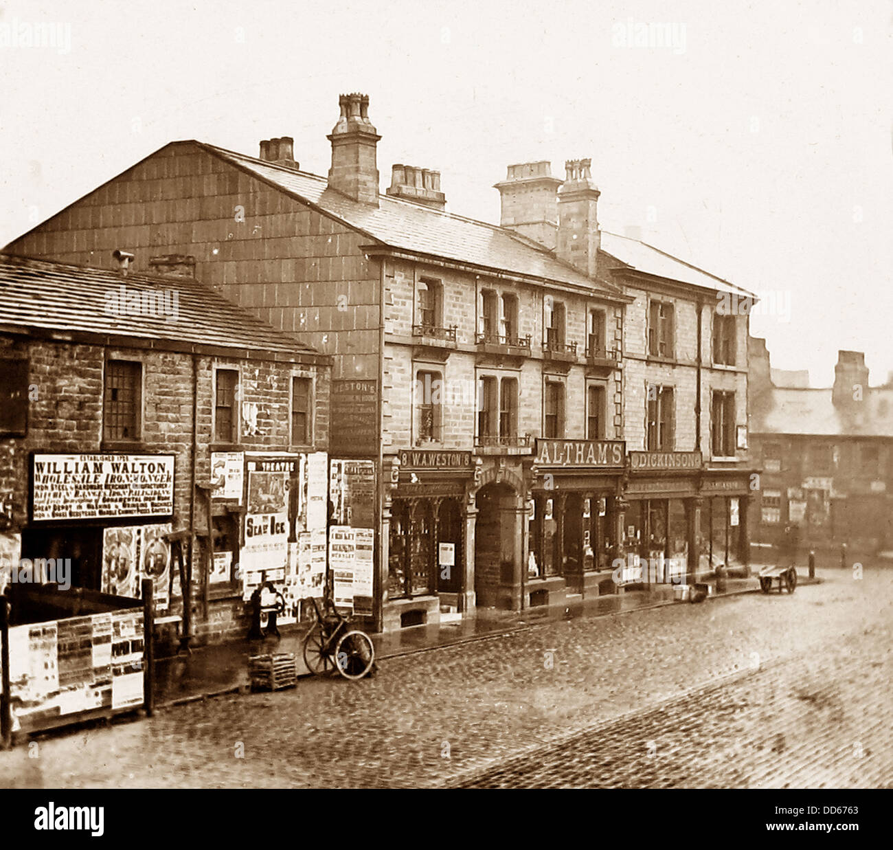 Burnley Howe Street in 1883 - Stock Image