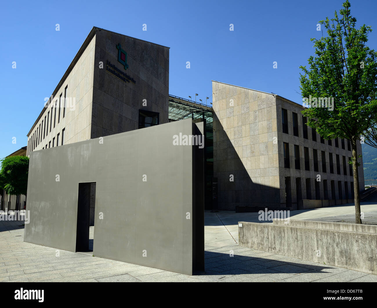 Bank, Vaduz, Liechtenstein, Europe - Stock Image