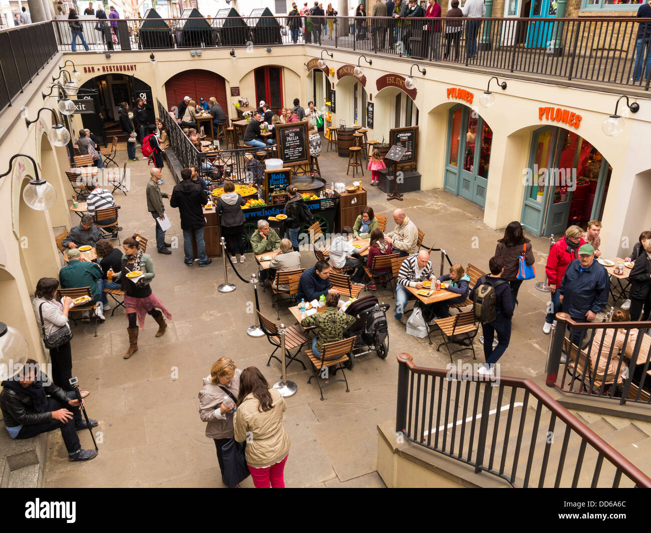 Cafes / bar in Covent Garden Market, London - Stock Image