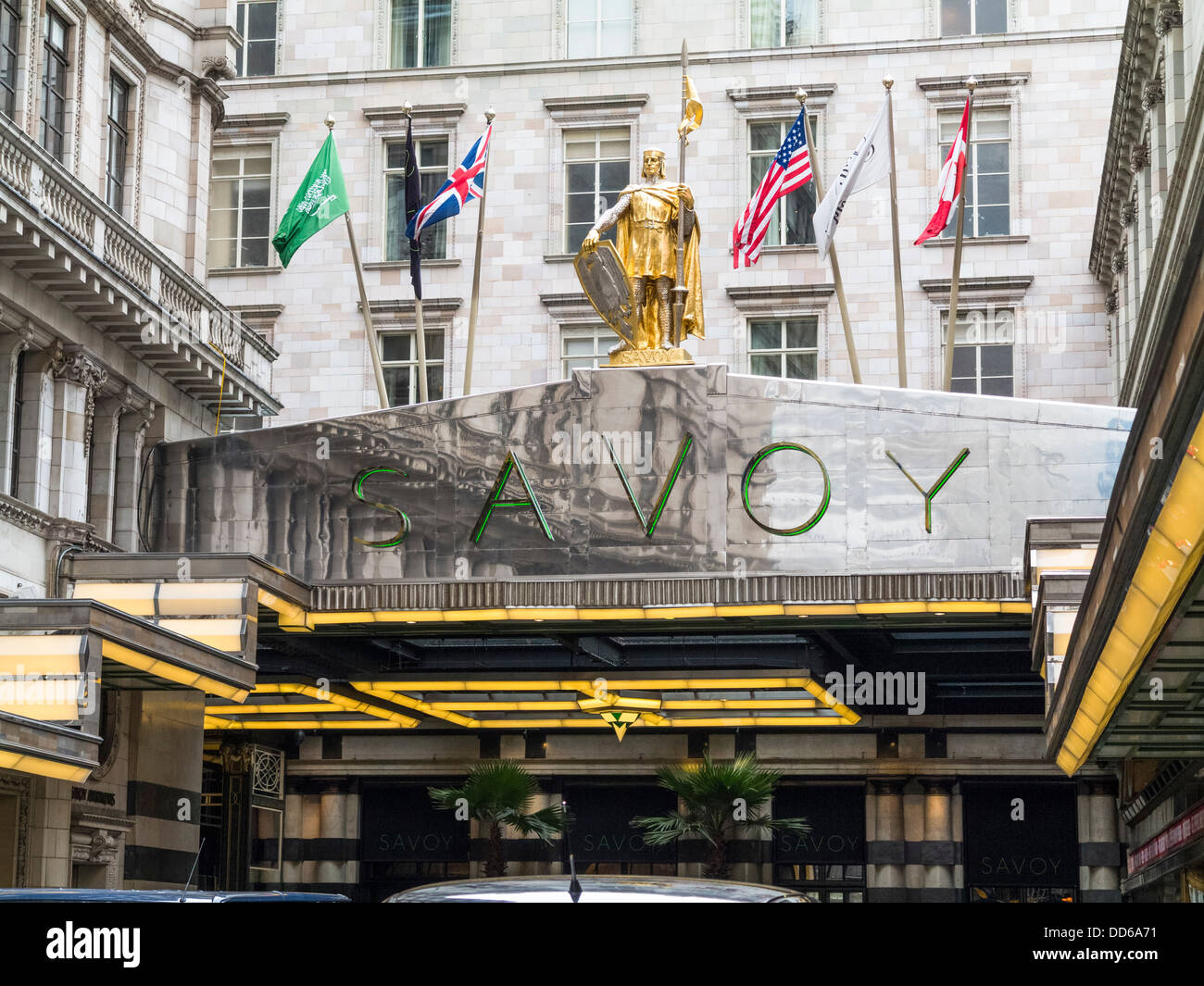 The Savoy hotel, London - Stock Image