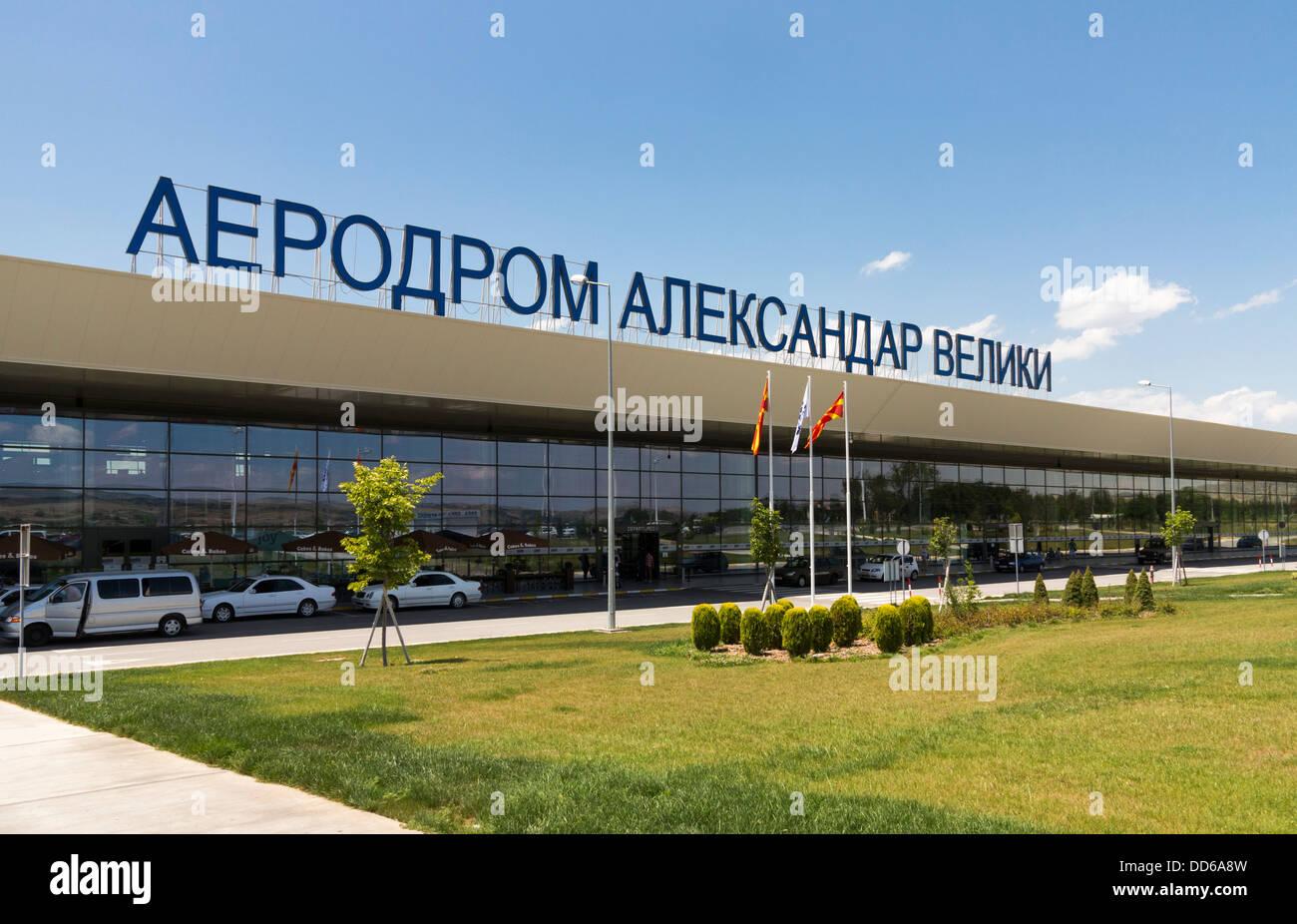 'Alexander the Great' Airport, Skopje, Macedonia - Stock Image