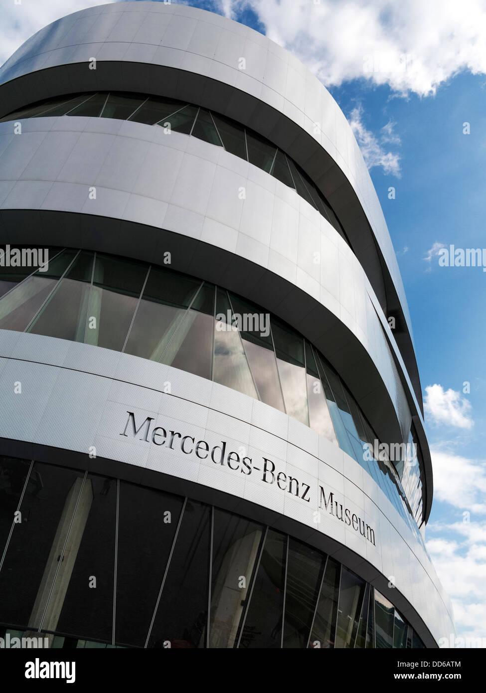 The Mercedes Benz Museum, Stuttgart, Germany - Stock Image