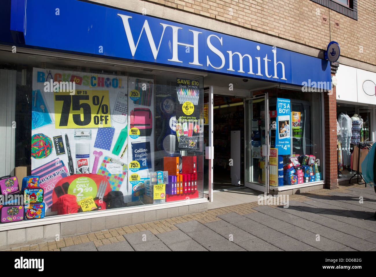 Wh Smith on High Street - Stock Image