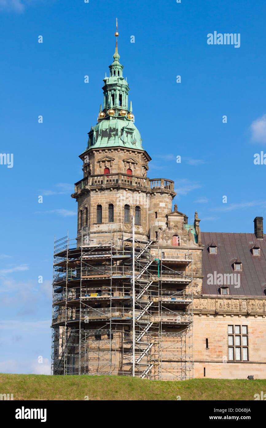 Kronborg castle in Elsinore (Helsingor), Denmark - Stock Image