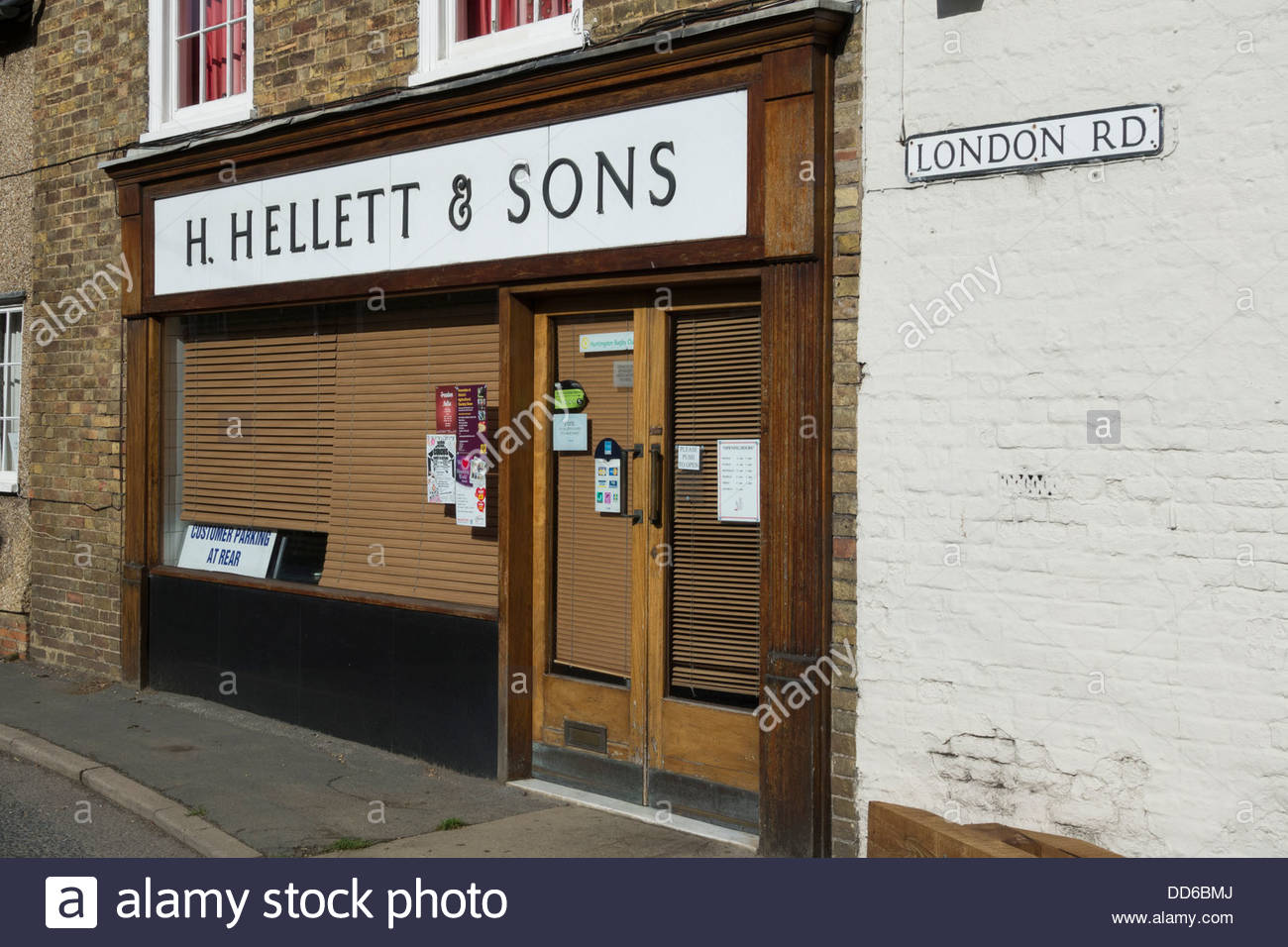 Hellet and Sons, a traditional butcher in Kimbolton, Cambridgeshire - Stock Image