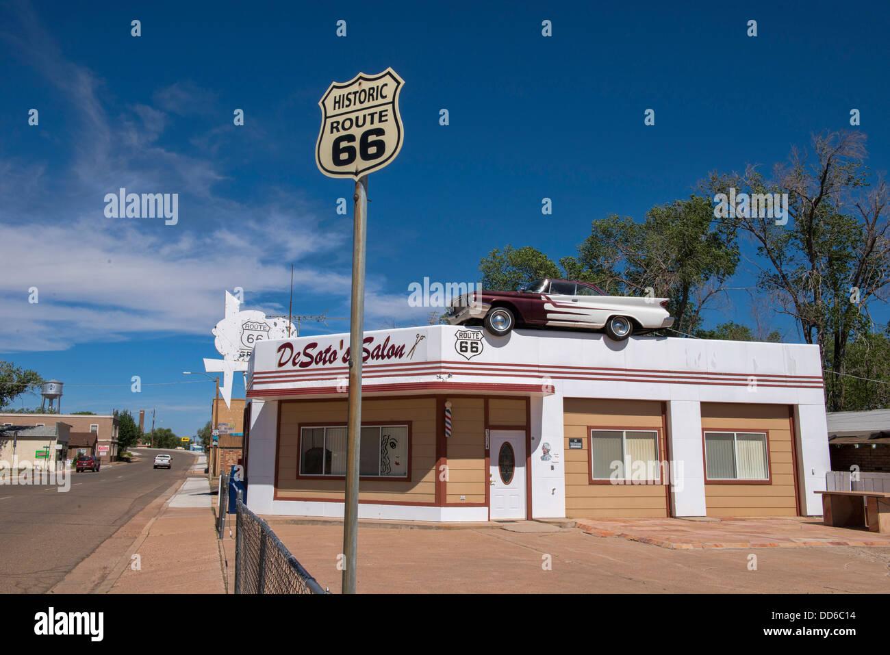 Out Along Historic Route 66 Seligman Arizona Stock Photo