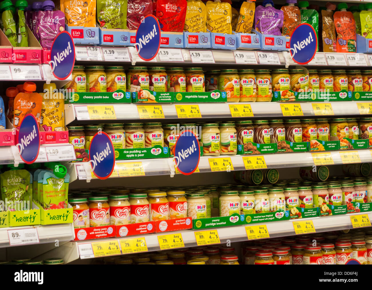 Baby Food In Tesco Supermarket England Uk Stock Photo