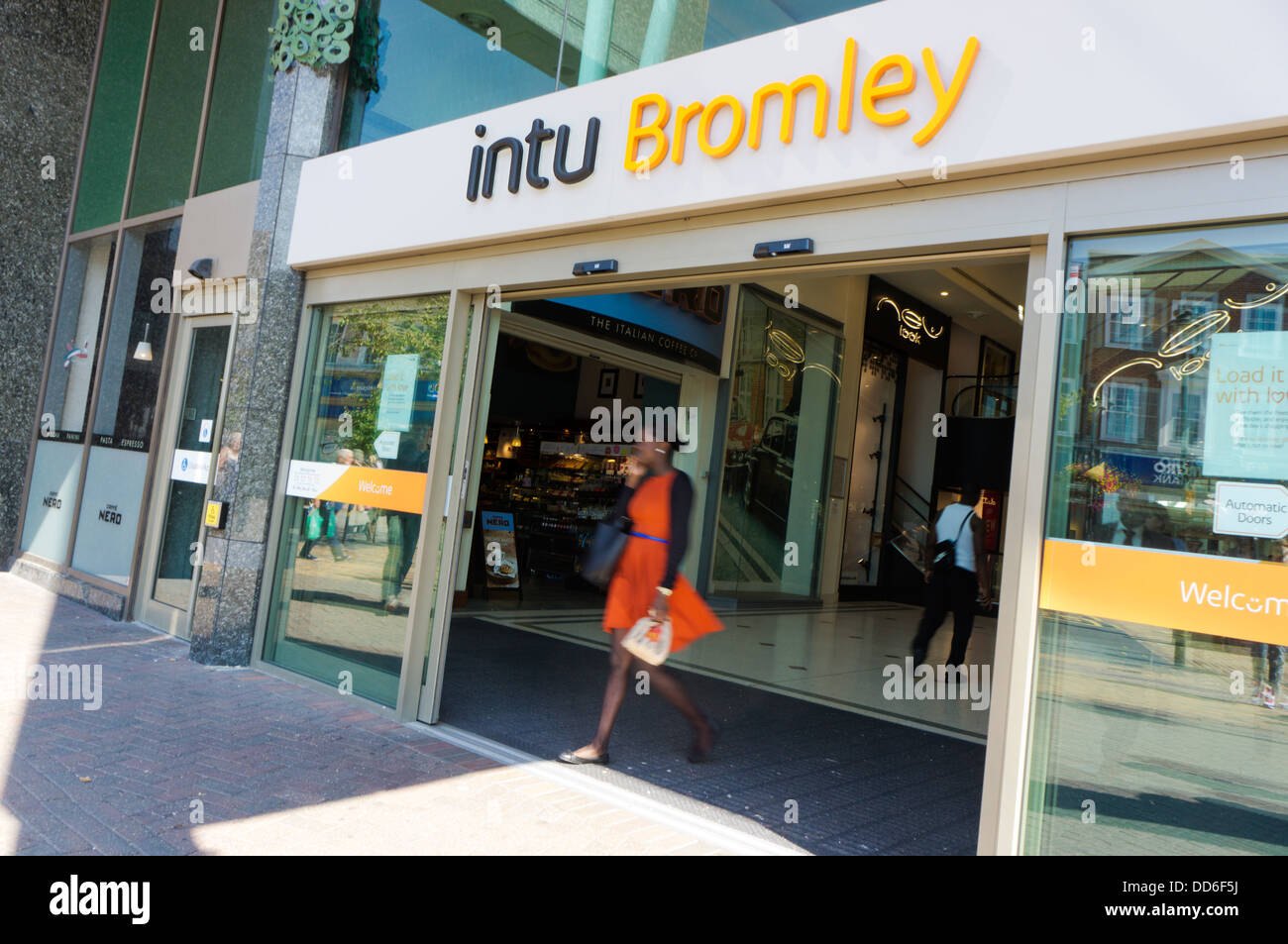 The Glades shopping centre in Bromley has been re-branded as Intu Bromley following the re-naming of its parent - Stock Image