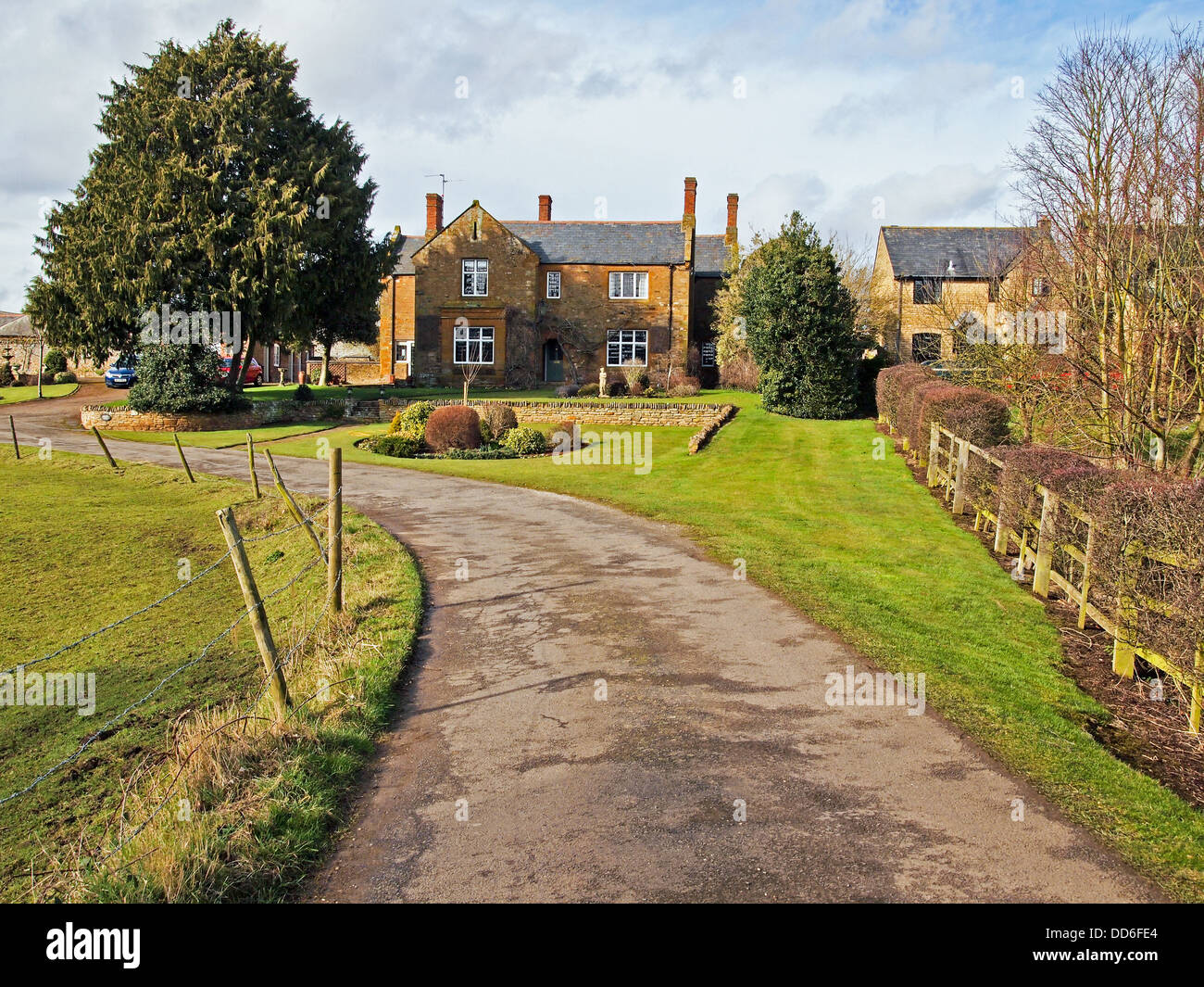 Country House in country lane - Stock Image