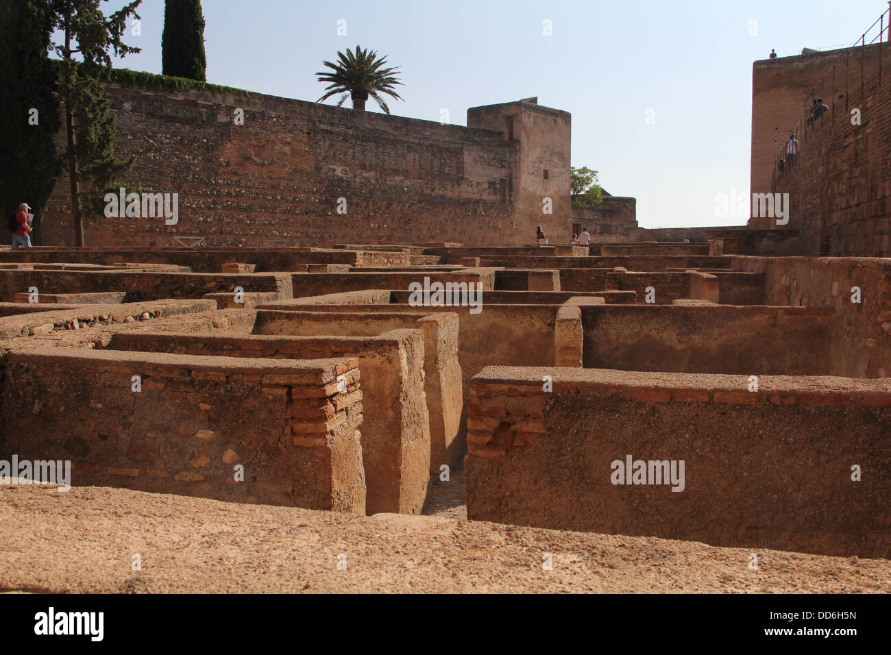 maze of foundations in the alhambra - Stock Image