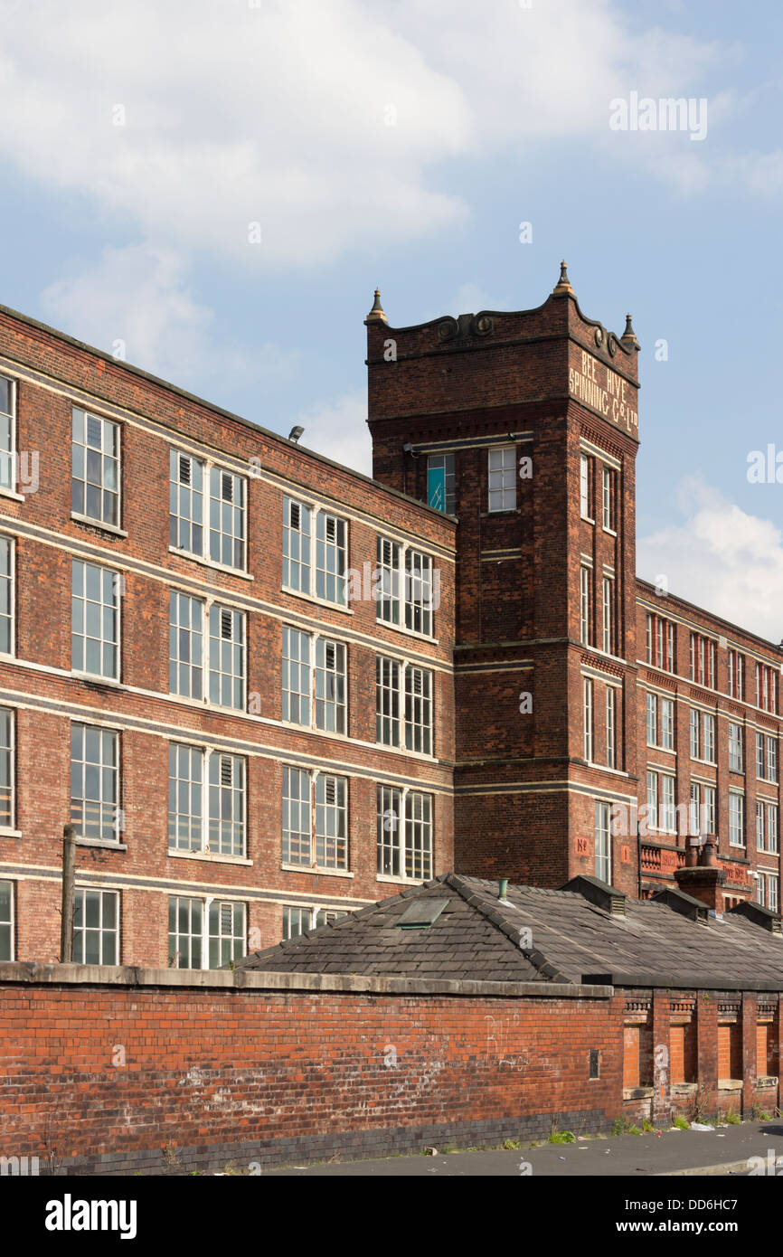 Beehive mill on Crescent Road, Bolton, Lancashire,  a former cotton spinning mill now a grade II listed building. - Stock Image