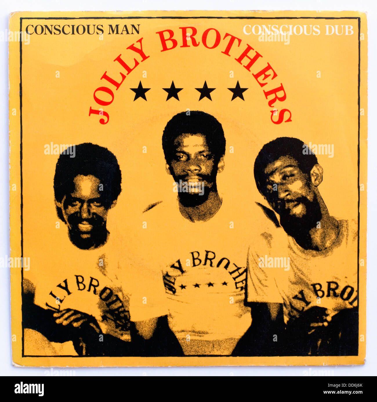 Jolly Brothers - Conscious Man, 1978 7' picture cover single on Ballistic/UA - Stock Image