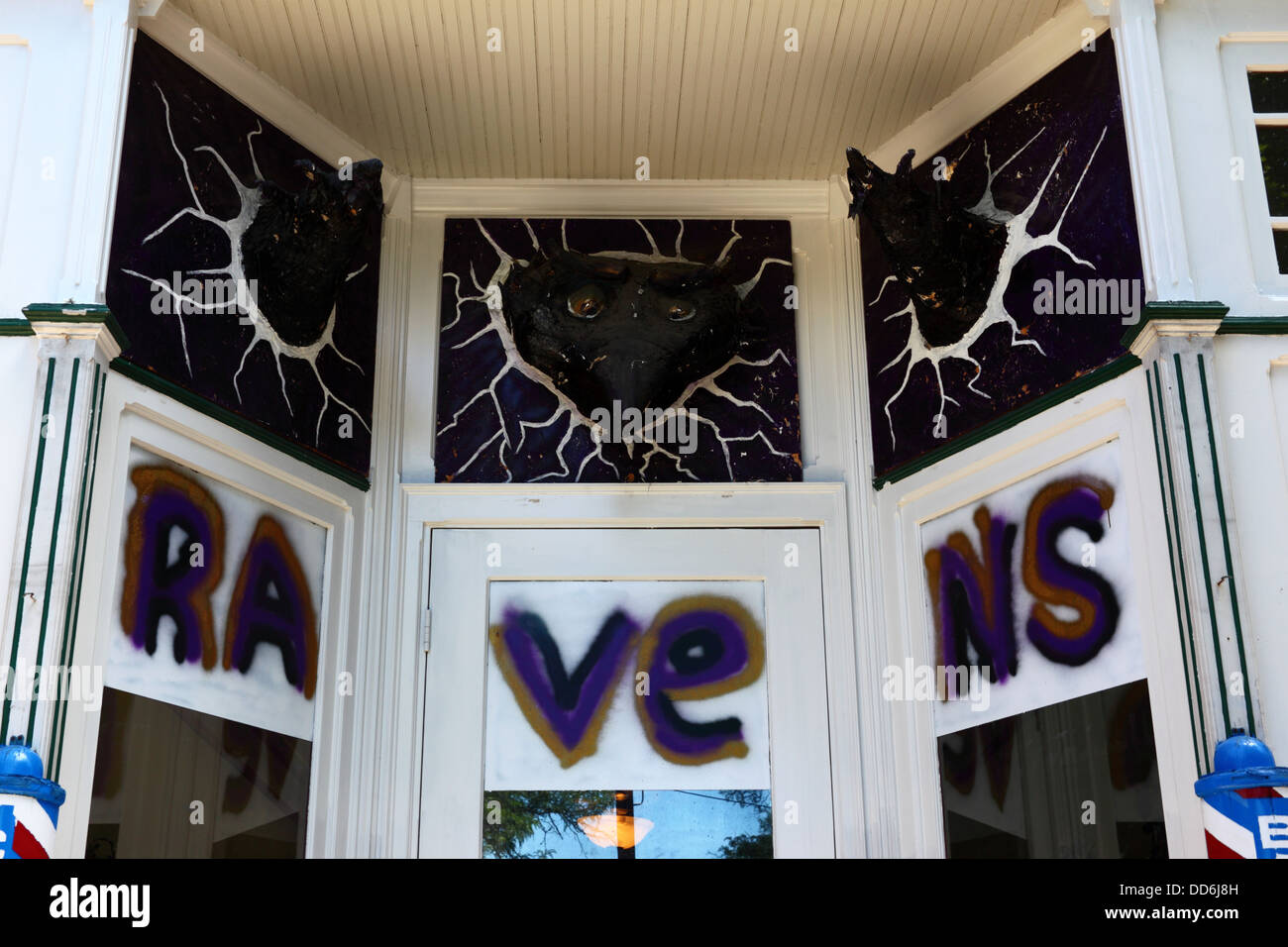 san francisco f4422 f4003 Graffiti showing support for Baltimore Ravens America ...