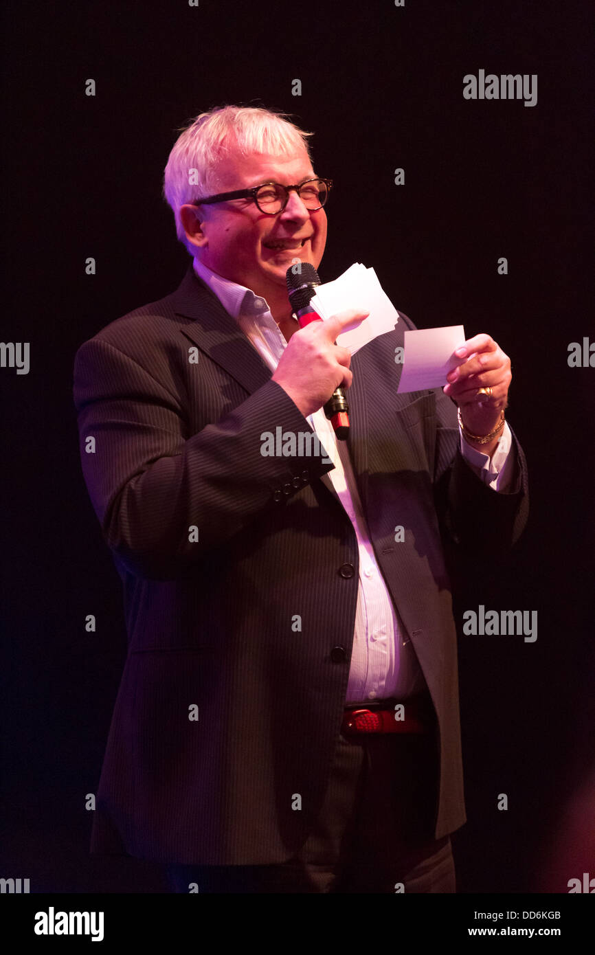 Christopher Biggins presenting a Charity Auction at An Evening with Chickenshed at ITV Studios, London, UK. - Stock Image