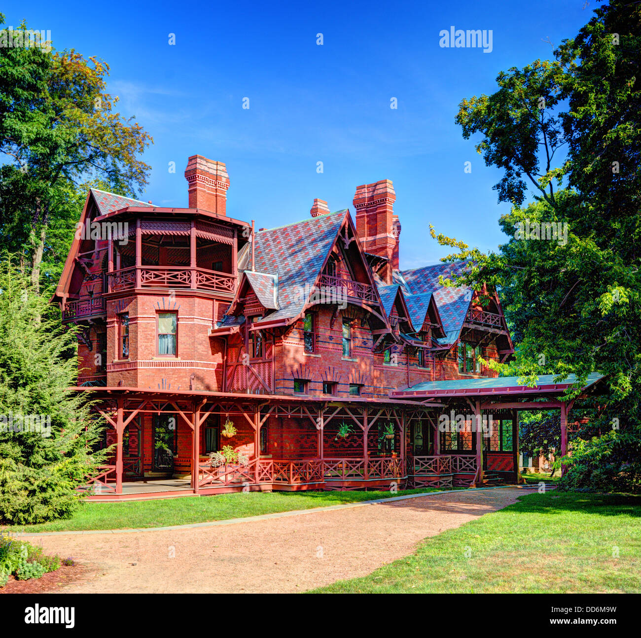 Mark Twain House in Hartford, Connecticut. - Stock Image