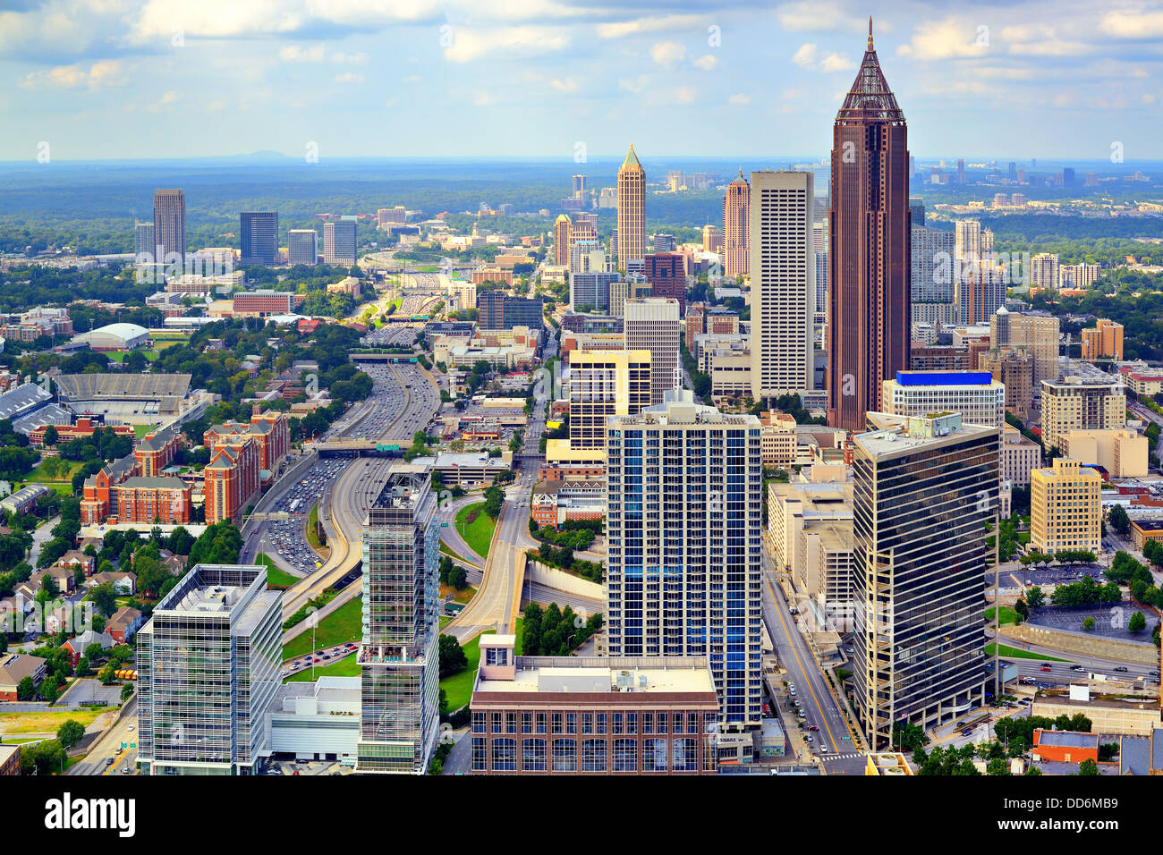 Downtown Atlanta, Georgia, USA skyline. - Stock Image