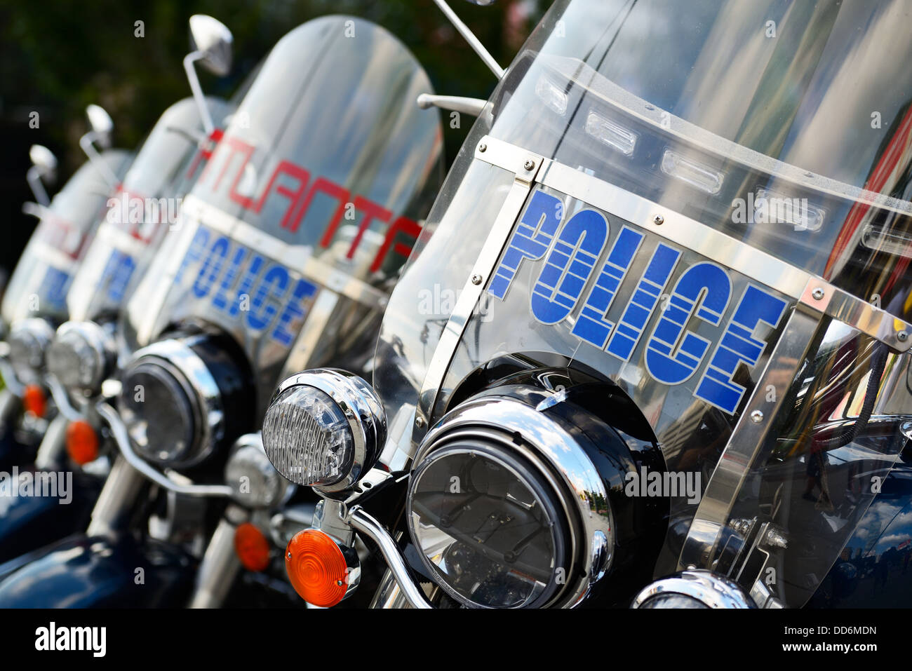 atlanta police motorcycles - Stock Image