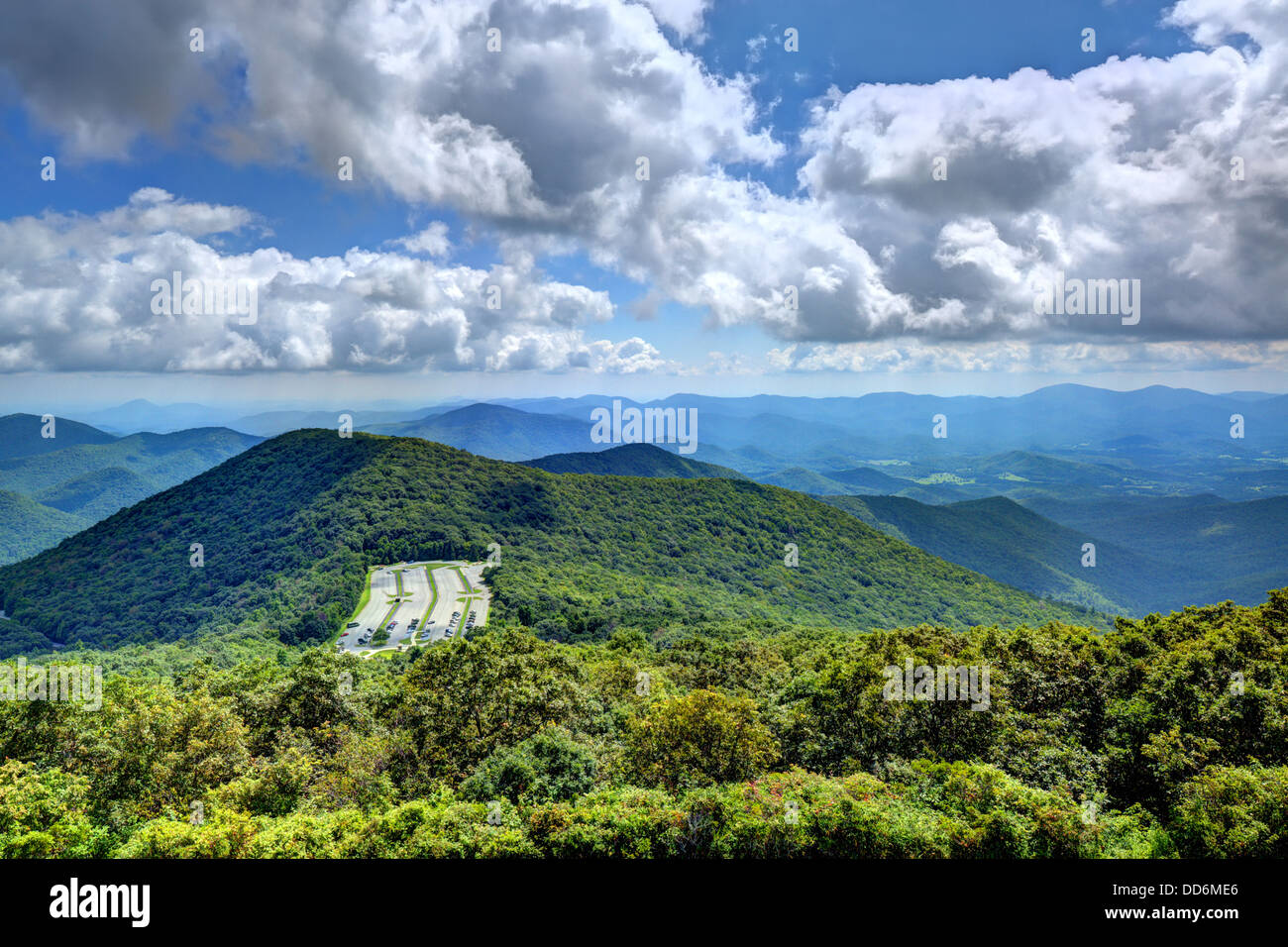 View of Appalachian mountains in north Georgia, USA. - Stock Image