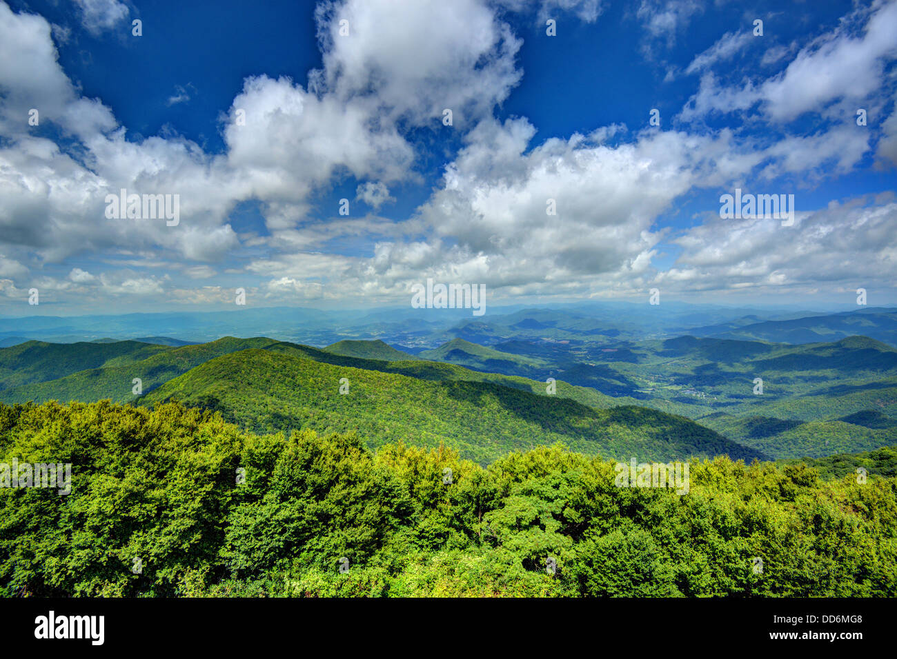 View of Appalachian mountains in north Georgia, USA. Stock Photo