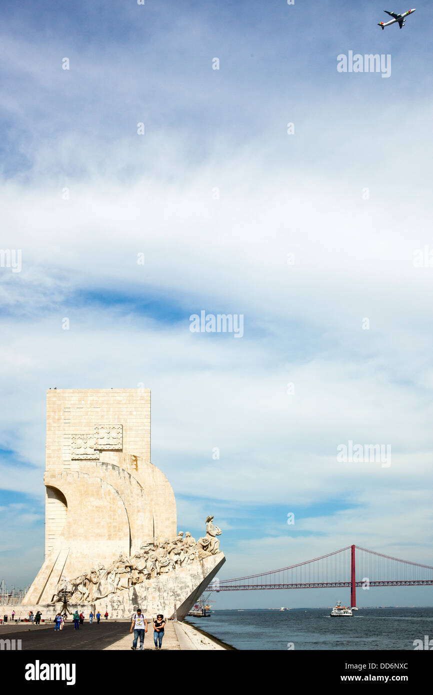 Padrao dos Descobrimentos, Lisbon, Portugal, Europe - Stock Image