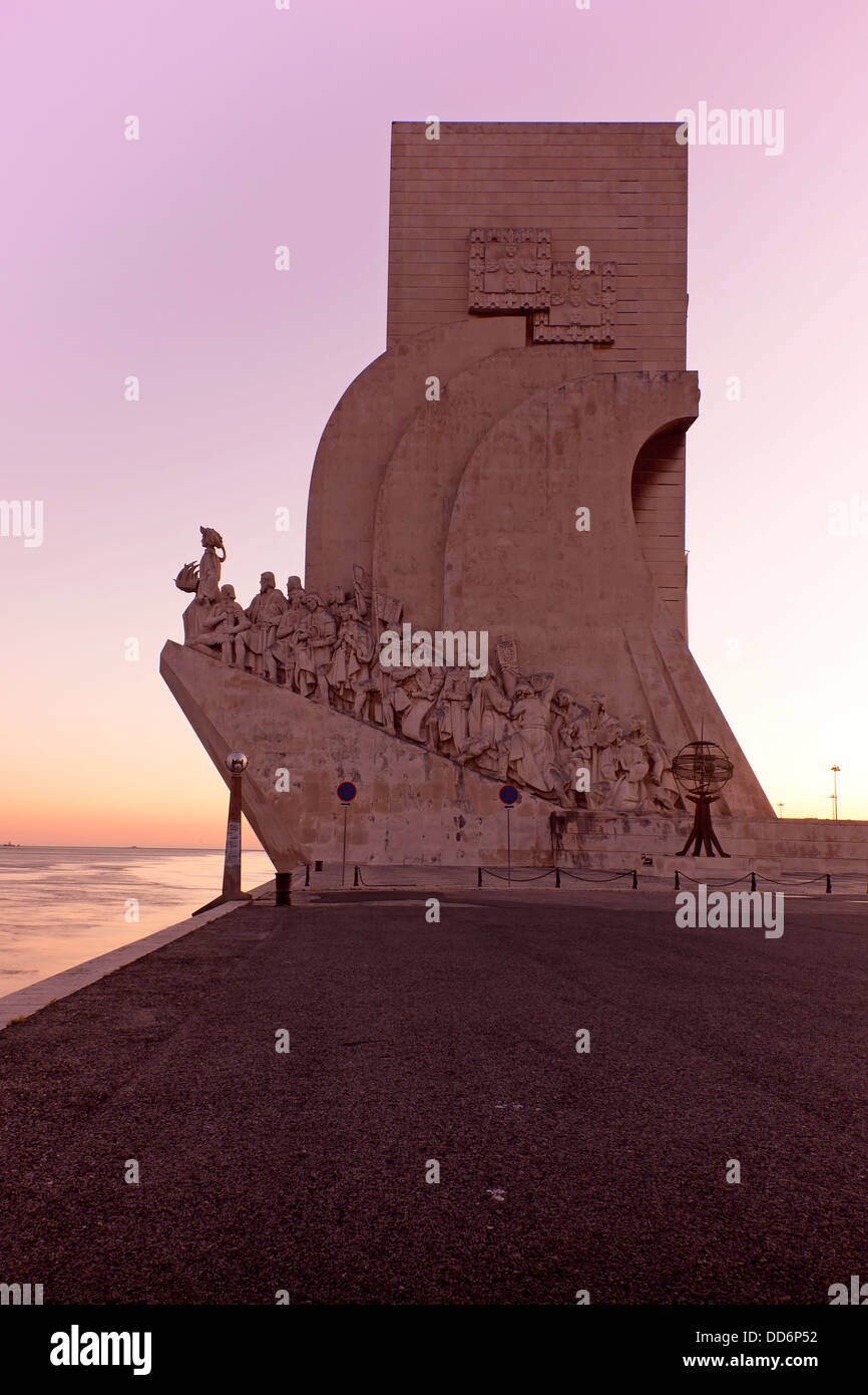 Monument to the Discoveries, Lisbon, Portugal, Europe - Stock Image