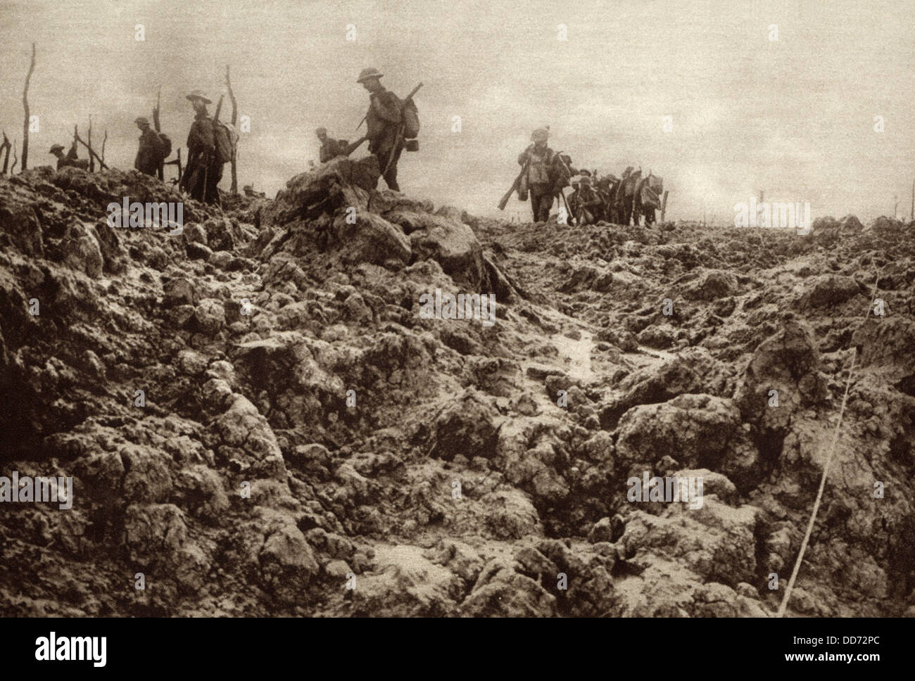 world war 1 western front battleground has been churned up by shell